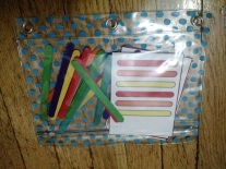 pattern cards and popsicle sticks