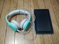 kid headphone and Kindle